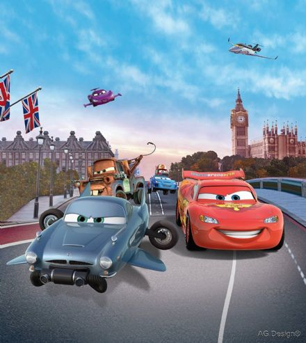 "Disney bedroom wallpaper ""Cars in London"""